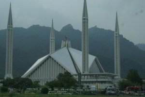 Faisal Mosque in Islamabad, Pakistan. Photo by Mubashar Hasan