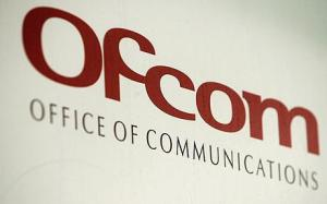 Ofcom logo on the front of their headquarters on January 18, 2007 in London.    (Photo by Bruno Vincent/Getty Images)