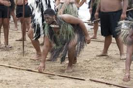 Maori gather at Waitangi (Northland, New Zealand), the site of the treaty signing Februrary 6th 1840 - google images
