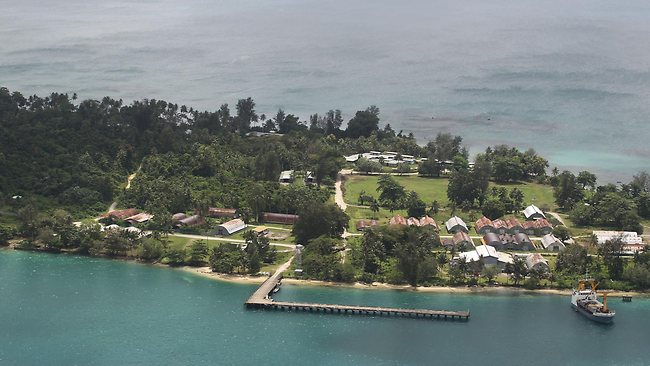 An aerial view of Manus Island, where the first asylum-seekers have arrived to be housed in a new offshore processing centre - The Australian