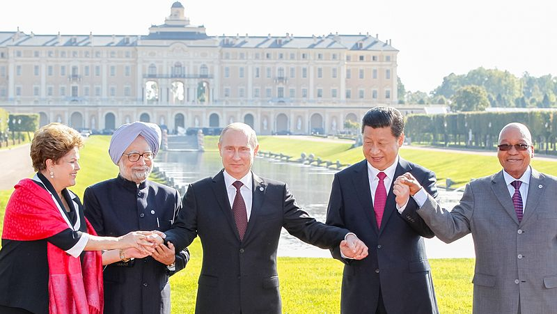 The leaders of the 'BRIC' nations and South Africa at the most recent 'BRIC Conference' in March 2013, the 5th annual such conference. Brazil, Russia, India and China are all emerging powers and are clear examples of the emerging multipolar world order. Source: Google Images.
