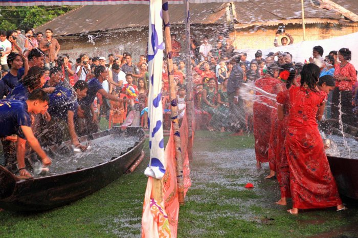 Water festivities - Photo courtesy of the author