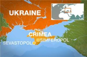 Ukraine and Crimea map - Al Jazeera media