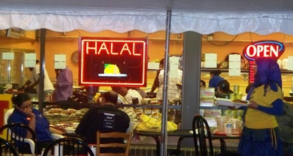 Halal shops are an assertion of Muslim identity in Europe (Google Image)