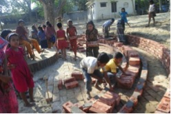 Figure 6: Children are engaged in the construction process