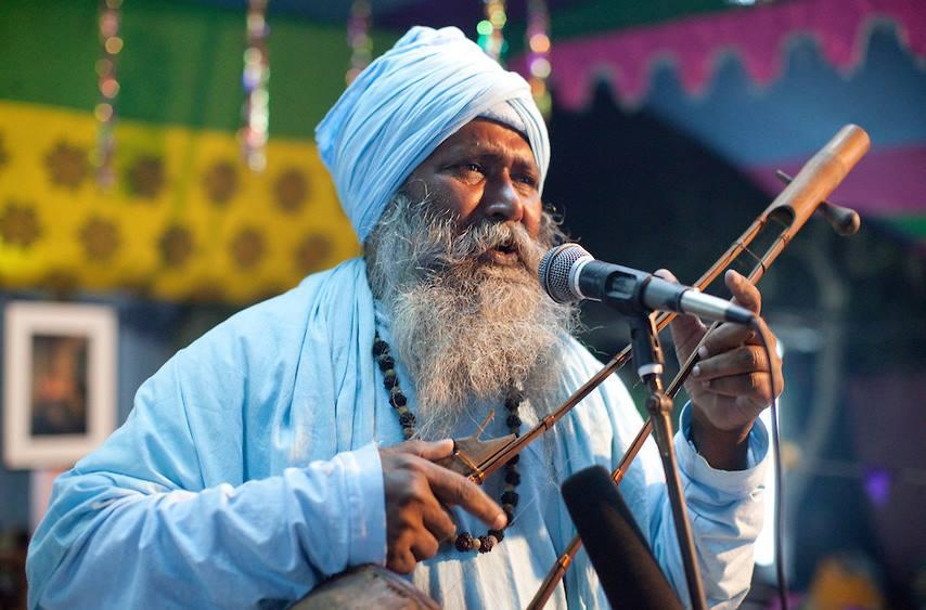 A Baul in Kushtia, Bangladesh performing  (Swiatoslaw Wojtkowiak Image)