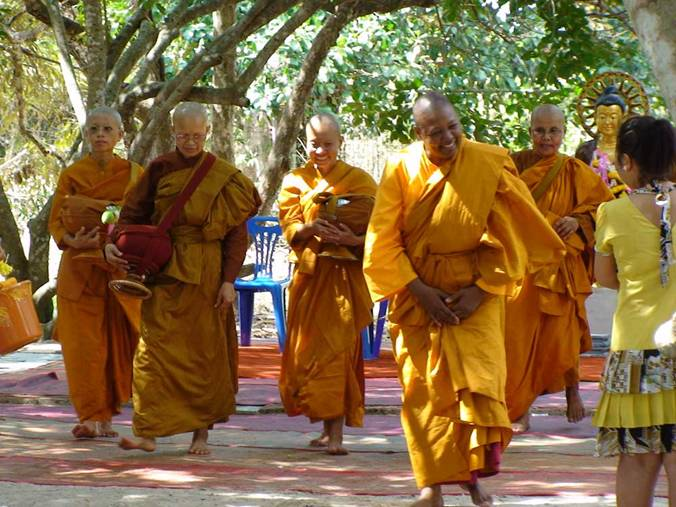 Bhikkhuni's (female monks) are pushing for more recognition in Thai Buddhism. This is also understood as a gradual shift in the gender roles of Thai women, who are now responding to the long held male patriarchal dominance of Thai society - Google Images