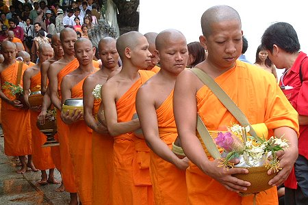 The Bhikkhu (male monk) is the most regarded symbol of Thai Buddhism - Google Images