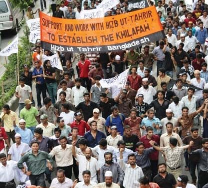 Campaign of a transnational Islamist party Hizbut Tahrir received boost in Bangladesh due to  drivers of globalization such as internet, media. Photo-Google Image