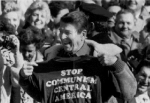 ICJ Ruled U.S. Violated International Law By Supporting Nicaraguan Contras in 1984. In this photo US president Ronald Reagan is seen to support Nicaraguan Contras-Google Imahes