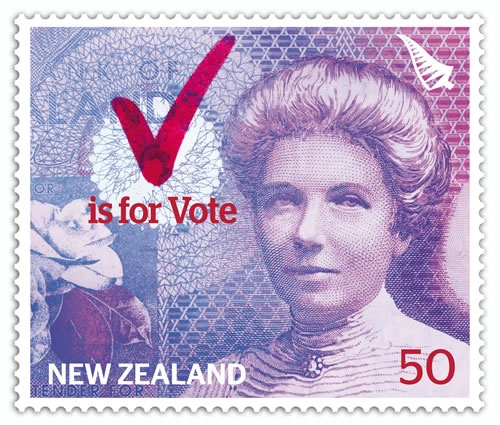 Women's suffragist Kate Sheppard features on the NZ $10 note. NZ was the first nation to give women the vote in 1893 - Google Images