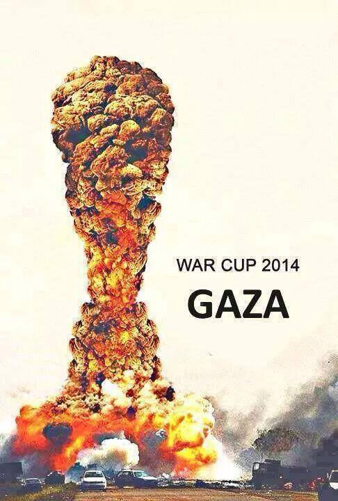 Gaza's War Cup - Photo Courtesy of 'Urgent by Gaza' Facebook page