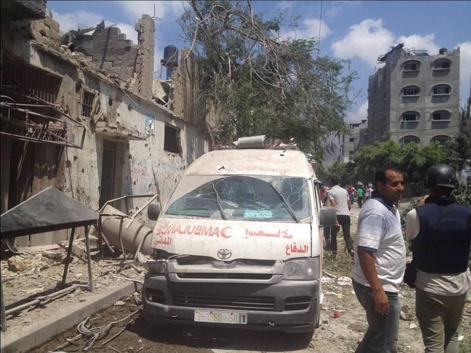 The aftermath of the Shujayea attacks - Photo courtesy of 'Urgent by Gaza' Facebook page