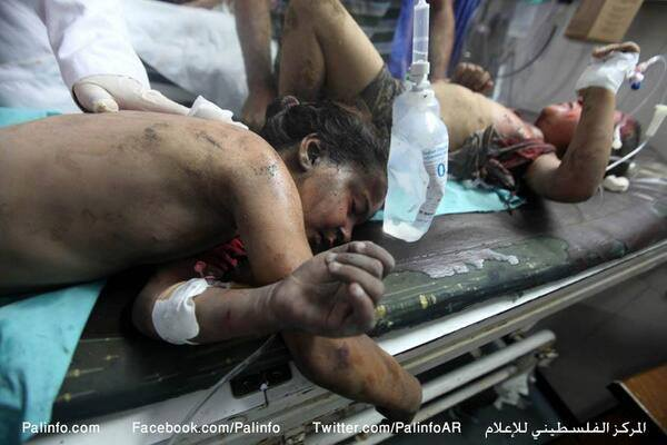 Victim of Gaza Massacre - Photo courtesy of 'Urgent by Gaza' Facebook page