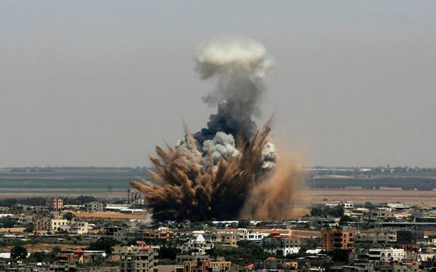 Visual horror from the Israeli offensive on the Gaza Strip - Photo courtesy of 'Urgent by Gaza' Facebook page