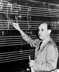 Schoenberg's twelve-tone technique is credited as beginning seralist method.