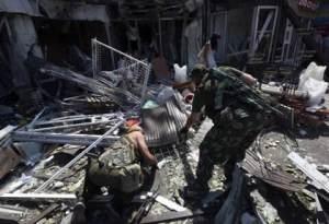 Donetsk air strike