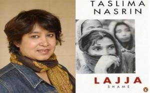 Nasreen's controversial book Lajja (Shame).
