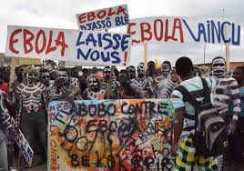 Protests for and against government efforts in the Ebola outbreak have become common in West Africa.