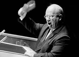 The Soviet leader, Nikita Khrushchev's 'shoe-pounding' antics at the United Nations featured in the ineffectual Republican response to 'Daisy'
