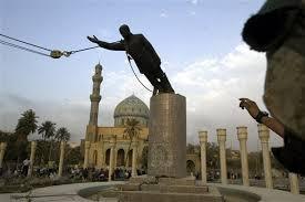 Saddam statue