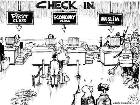 Satirizing the JetBlue profiling incident (illustration: mic.com)